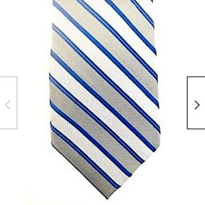 Calvin Klein Silk Tie Gray Silver Blue Stripes
